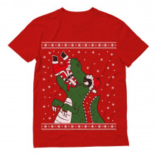 Santa Claws T-Rex VS Santa Funny Ugly Christmas
