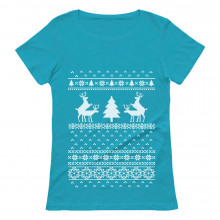 Santa Humping Reindeer Ugly Christmas Sweater Funny