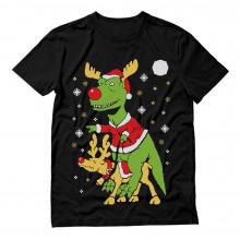 Santa T-Rex Reindeer Ride Ugly Christmas