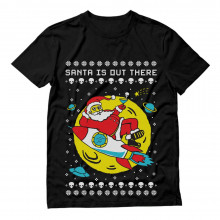 Santa's Out There UFO Alien Space Rocket Ugly Christmas