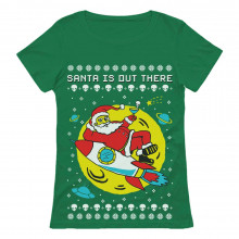 Santa's Out There UFO Alien Space Ugly Christmas