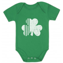 White Distressed Striped Clover