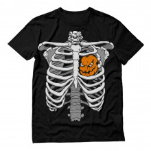 Skeleton Rib Cage Xray Pumpkin Heart