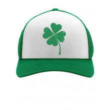 Green Distressed Clover Cap